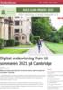 Digital undervisning fram til sommeren 2021 på Cambridge