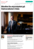 Direkte fra styremøtet på Universitetet i Oslo