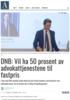 DNB: Vil ha 50 prosent av advokattjenestene til fastpris