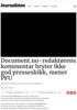 Document.no-redaktørens kommentar bryter ikke god presseskikk, mener PFU