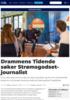 Drammens Tidende søker Strømsgodset-journalist