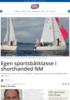 Egen sportsbåtklasse i shorthanded NM