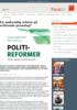En nødvendig reform på sviktende grunnlag?