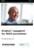 Enighet i oppgjøret for 3600 journalister