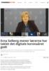 Erna Solberg mener lærerne har taklet det digitale koronaåret godt