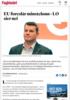 EU foreslår minstelønn - LO sier nei