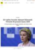 EU-sjefen foreslår skjerpet klimamål: Vil kutte 55 prosent innen 2030
