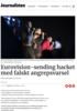 Eurovision-sending hacket med falskt angrepsvarsel