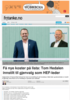 Få nye koster på lista: Tom Hedalen innstilt til gjenvalg som HEF-leder