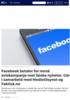 Facebook betaler for norsk aviskampanje mot falske nyheter. Går i samarbeid med Medietilsynet og Faktisk.no