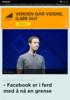 - Facebook er i ferd med å nå en grense