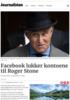Facebook lukker kontoene til Roger Stone