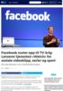Facebook ruster opp til TV-krig: Lanserer tjenesten Watch for sosiale videoklipp, serier og sport