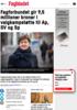 Fagforbundet gir 9,5 millioner kroner i valgkampstøtte til Ap, SV og Sp