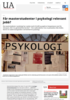 Får masterstudenter i psykologi relevant jobb?