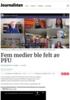 Fem medier ble felt av PFU