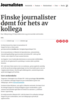 Finske journalister dømt for hets av kollega
