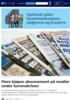 Flere kjøper abonnement på medier under koronakrisen