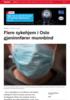 Flere sykehjem i Oslo gjeninnfører munnbind
