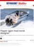 Flipper igjen med norsk designer