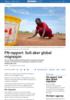 FN-rapport: Sult øker global migrasjon