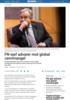 FN-sjef advarer mot global vannmangel