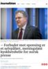 - Forbudet mot sponsing er et selvpåført, meningsløst kyskhetsbelte for norsk presse