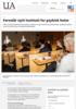 Foreslår nytt institutt for psykisk helse