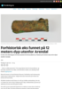Forhistorisk øks funnet på 12 meters dyp utenfor Arendal