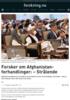 Forsker om Afghanistan-forhandlinger: - Strålende