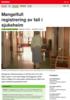 Forskning Mangelfull registrering av fall i sjukeheim
