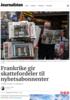Frankrike gir skattefordeler til nyhetsabonnenter