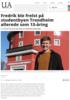 Fredrik ble frelst på studentbyen Trondheim allerede som 13-åring