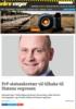 FrP-statssekretær vil tilbake til Statens vegvesen