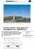 Frykter støykrav vil gi tap på over 100 millioner for vindkraftverk
