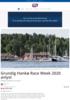Grundig Hankø Race Week 2020 avlyst