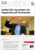 Hallén blir styreleder for Høgskolen på Vestlandet