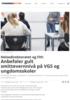 Helsedirektoratet og FHI: Anbefaler gult smittevernnivå på VGS og ungdomsskoler