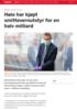 Høie har kjøpt smittevernutstyr for en halv milliard