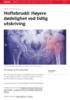 Hoftebrudd: Høyere dødelighet ved tidlig utskriving