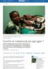 Hvorfor er malaria på vei opp igjen ?