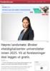 Høyres landsmøte: Ønsker «heldigitaliserte» universiteter innen 2025. Vil at forelesninger skal legges ut gratis.