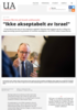 """Ikke akseptabelt av Israel"""""""