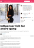 Influenser felt for andre gang
