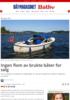 Ingen flom av brukte båter for salg