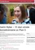 Iselin Nybø: - Vi skal utrede konsekvensene av Plan S