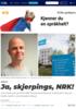 Ja, skjerpings, NRK!