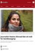 Journalist Hasina Shirzad blei eit mål for bombeangrep