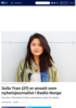 Julie Tran (27) er ansatt som nyhetsjournalist i Radio Norge