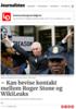 - Kan bevise kontakt mellom Roger Stone og WikiLeaks